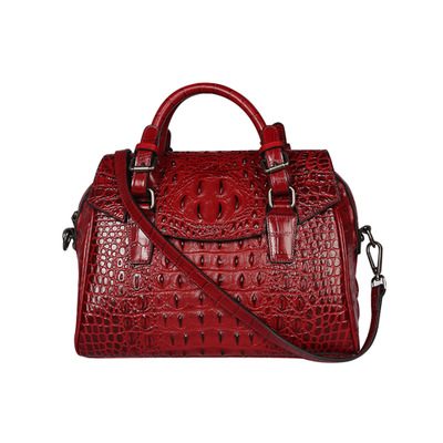 luxury alligator pattern totes for women novelty 100% real cow leather red green purple one shoulder bag vintage crossbody bag silicone jigsaw pattern cover creative notebook red white green purple