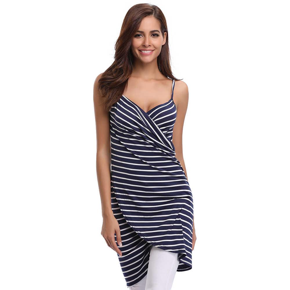 ... Summer Sexy Club Wear Blue V-Neck Stripped Dress Women Spaghetti Strap  Beach Dresses Backless ...