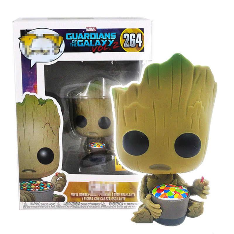 FUNKO POP New Marvel Avengers3 groots Người Giám Hộ của các Galaxy Grootted PVC Hành Động Hình Bộ Sưu Tập Mô Hình đồ chơi cho Trẻ Em