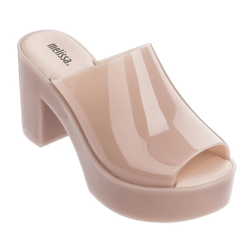 Melissa Summer fashion wear women's slippers zapatos mujer 2019 Korean high heeled platform thick soled sandals and slippers-in High Heels from Shoes    1
