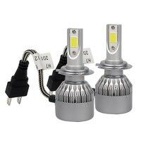 1 Cặp Xe tạo kiểu Fog Ánh Sáng LED Xe Headlight Head Đèn Daytime running nhẹ DRL C9 H7 60 W/set Ánh Sáng Siêu Sáng nguồn
