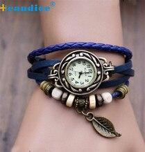 D30F25 2016 Relogio Feminino New Leather Strap Bracelet Women Watch Ladies Quartz Wristwatch Clock Montre Femme Reloj Jun 28