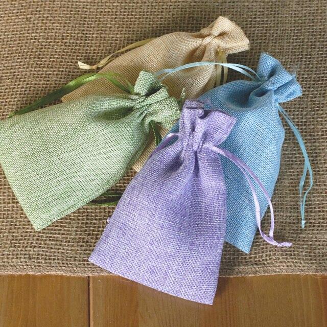 10pcs 46 Rustic Burlap Sack Wedding Favor Bags Candy Pouches