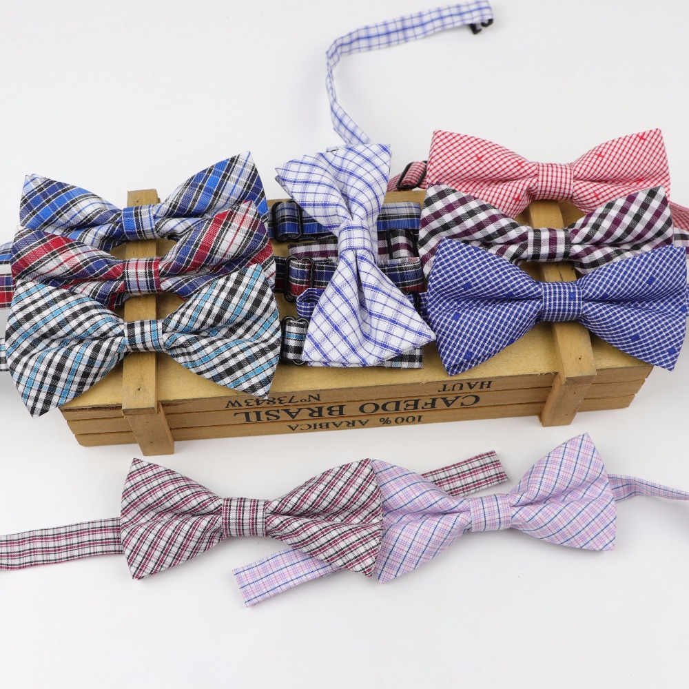 Children Formal Polyester Cotton Bow Tie Kid Classical Striped Bowties Colorful Dot Wedding Party Bowtie Pet Tuxedo Ties