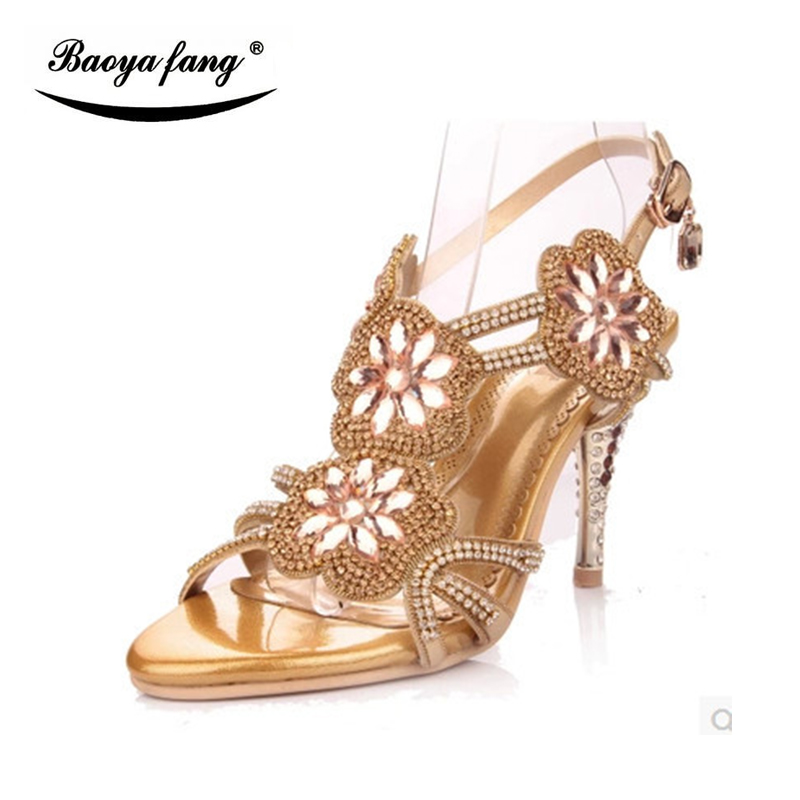 2017 New Summer Female sandals crystal heel shoes woman High heels sandals women Peep Toe sexy gladiator sandals wedding shoes summer platform wedges party shoes for woman extreme high heels sexy wedding shoes woman comfort female shoes heel