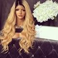 2017 de La Moda Del Frente Del Cordón Pelucas Del Pelo Humano 1B/#613 Del Pelo Humano Brasileño 9A Onda Del Cuerpo pelucas Llenas Del Cordón Del Pelo Humano Pelucas Para Negro mujeres