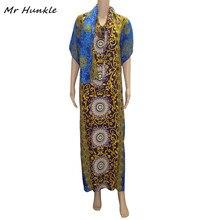 Mr hunkle Новинка 2017 года богемный Для женщин свободные макси летнее платье printted вспышка рукав длинный Vestidos Для женщин Vestido с шарфом