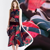 2017 new wings and advanced custom silk fabrics printing silk georgette cloth beautiful pendant