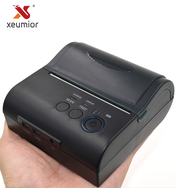 Xeumior 80mm Mini Mobile Thermique Réception Imprimante Android Étiquette Code À Barres Imprimante Avec SDK Gratuit Portable Bluetooth 4.0 Imprimante