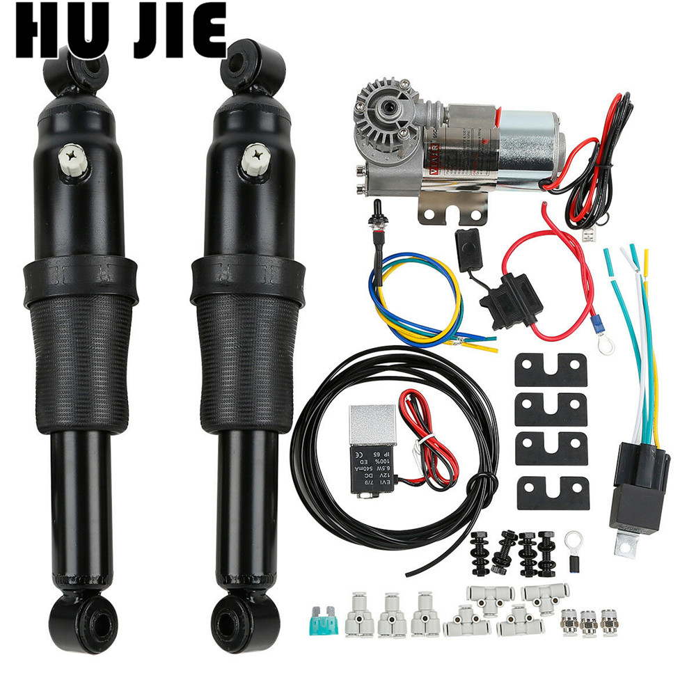 For Harley Touring Road King Bagger Electra Street Tour Glide 1994 2018 Motorcycle Adjustable Rear Air Ride Suspension Kit