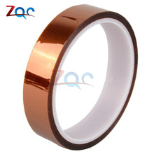 20 мм 2 см х 30 м высокая термостойкая лента рулон Золото 100 футов термостойкая полиамидная клейкая изоляционная термолента для BGA