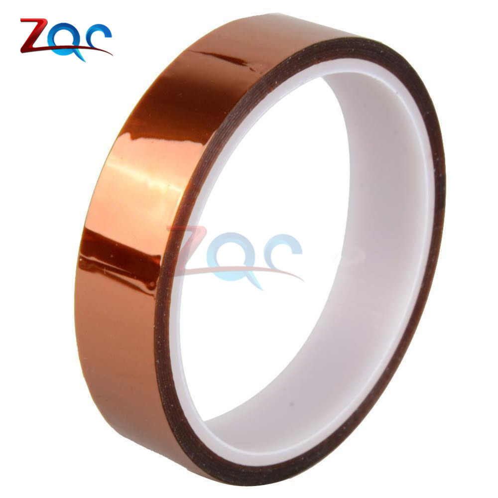 20mm 2cm X 30M High Temperature Resistant Tape Roll Gold 100ft Heat Resistant Adhesive Polyimide Insulation Thermal Tape For BGA