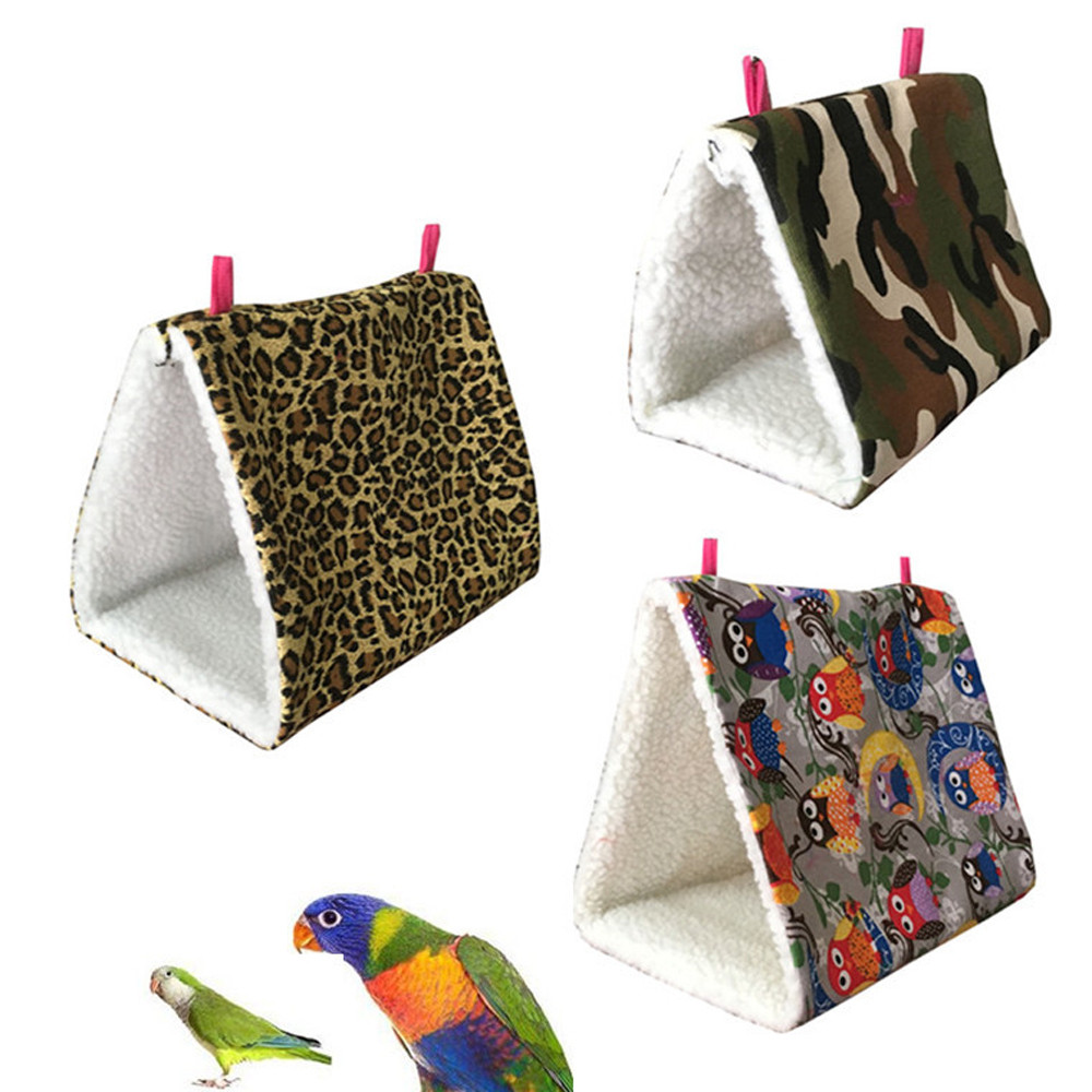 3Size Fashion Soft Bird Hanging Cave Cage Snuggle Hut Tent Bed Birds Winter Warm Nest Bird Parrot Conure Bunk Toy Parrot Hammock
