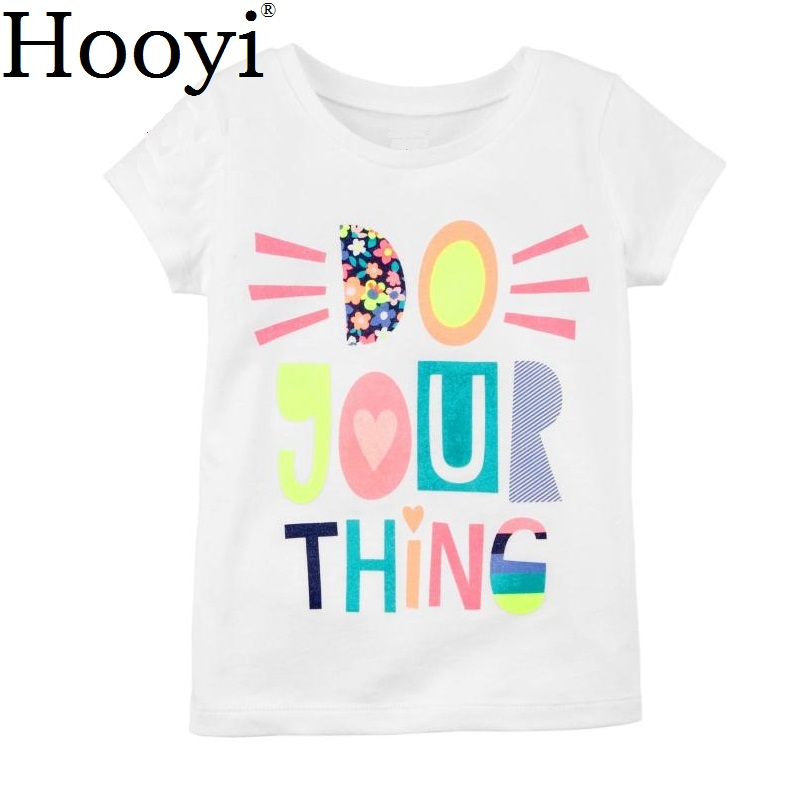 Hooyi Baby Girl Pink Letter Mommy Daddy Clothes Short Sleeve Shirts Toddler Tops Cute tee Kid Blouse