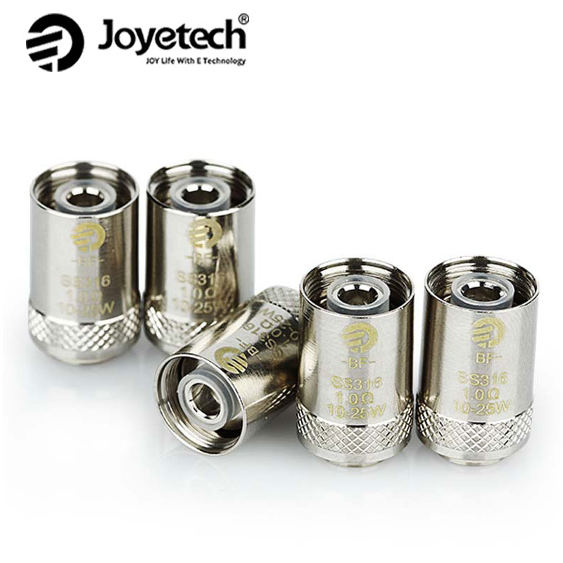 Original Joyetech EGO AIO BF Coil CUBIS SS316 Atomizer Head Replacement for CUBIS/ EGO AIO/ Cuboid Mini Atomizer 5Pcs/lot xfkm 5pcs cubis bf ss316 coil 0 5ohm 0 6ohm 1 0ohm ego aio coils evaporators replacement head for cubis pro ego aio kit