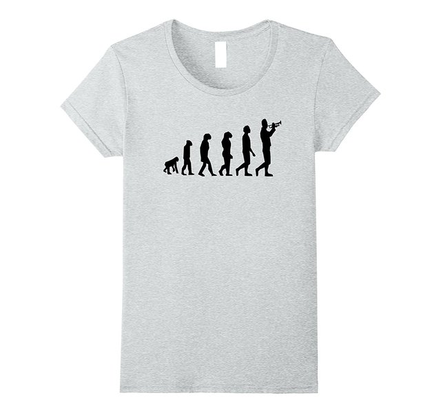 be4ad206a8 Evolution Marching Band Trumpet T Shirt Funny Musician Gift Funny Brand  Femme Cotton Hipster T-shirts Printed Tee Shirt