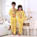Crianças Bob esponja pijamas conjuntos de pijama bebê dos desenhos animados adolescente meninos meninas pijamas pijama conjuntos de roupas de crianças de vestuário de algodão barato