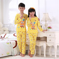 Kids sponge Bob sleepwear cartoon pajama sets baby teenage boys girls pyjamas pijama clothing sets children cotton garment cheap
