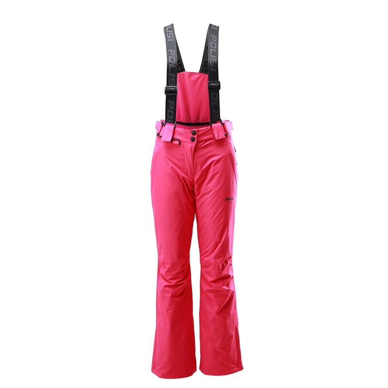 Nouveau professionnel thermique chaud Ski bavoir pantalon imperméable coupe-vent en plein air Sport Snowboard pantalon femmes Ski neige pantalon - 3