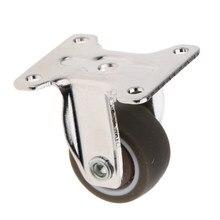 Roulette en caoutchouc robuste plaque fixe | Chariot industriel à roulettes en caoutchouc, plaque fixe 1