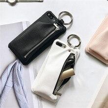 Для девочек чехол для телефона iPhone 7 чехол кожаный бумажник роскошные сумки молния принципиально чехол для iPhone 7 Plus мешок кольцо Жесткий PC Обложка