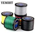 Новая приманка  плетеная сеть  300 м  500 м  1000 м  разноцветный PE плетеный провод  4 нити  мультифиламентная японская леска