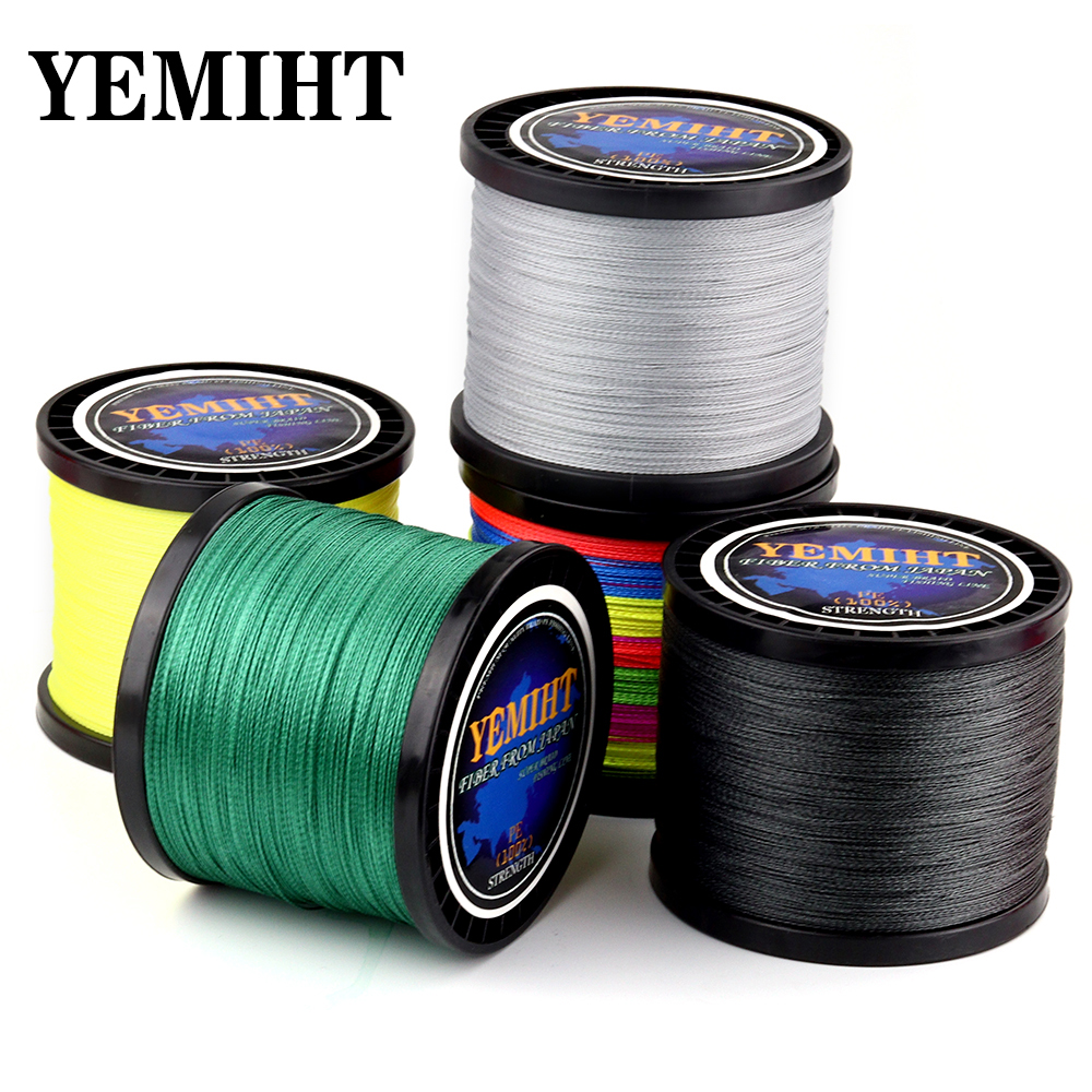 NEW Lure Line Weaving Net 300M 500M 1000M Multicolour PE Braided Wire 4 Strands Multifilament Japanese Fishing Line