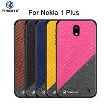 PINWUYO For Nokia 1 Plus Case Cover Hard PC + Cloth Back Cover Cases For Nokia 1 Plus Full Protective Phone Case protective pu pc case for nokia 525 520 black