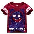 Little maven niños camisetas del bebé camisetas grandes abrazos de dibujos animados bebé ropa camisetas niños de algodón de manga corta
