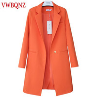 Hot Sale 2018 Spring Autumn New Women Blazers And Jackets Casual Long Women Suits Wide Waisted Solid Female Jacket Plus Size 3XL
