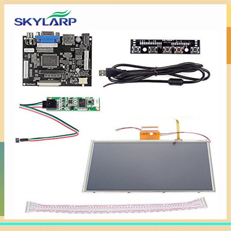 skylarpu 9 inch display for AT090TN10 HDMI/VGA Digital LCD Driver Board with Touch Screen for Raspberry Pi LCD Free shipping skylarpu 7 inch raspberry pi lcd screen tft monitor for at070tn90 with hdmi vga input driver board controller without touch