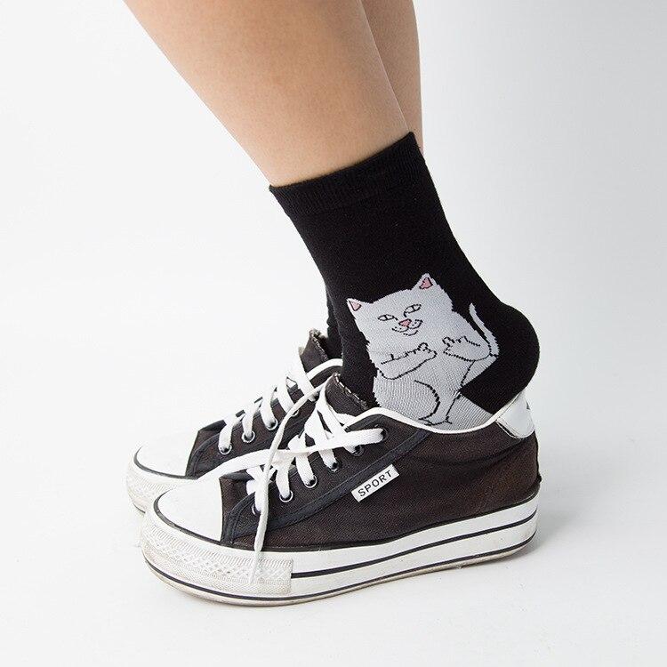 c50ad7e99584 MYORED cartoon Cat Novelty Socks Cotton Harajuku Cats Funny Socks Hip Hop  Mens womens mid crew Sokken neutral socks -in Men's Socks from Underwear ...