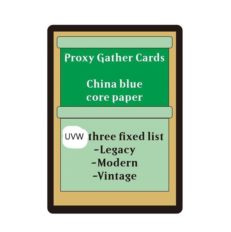 Brettspiel 54/lot DIY proxy spielkarten verkäufer der vorgefertigten liste, China blau core papier, legacy vintage moderne beta dual landet