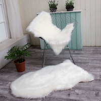 winter warm faux fur Sheepskin Wool Area Rugs and Carpet for Living Room Soft Shaggy Warm Rugs Chair Cover Home Floor Mats