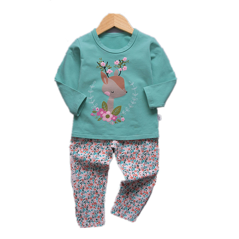VIDMID 1 9Y girls pajamas clothing sets kids t shirts and pants baby girls underwear sets