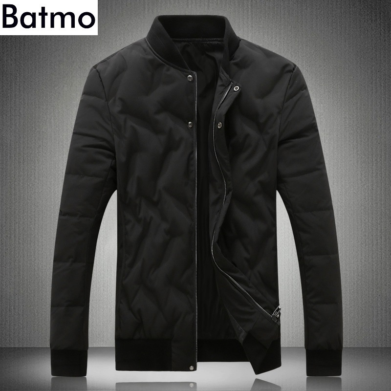 BATMO 2018 new arrival winter high quality 80% white duck   down   jackets men,men's winter warm black   coats  ,plus-size M-5XL Y18875