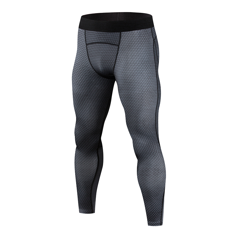 2018 Men Fitness Leggings Tights Elastic Snake Phosphorus Compression Tights Quick Dry Breathable Bodybuilding Cycling Pants