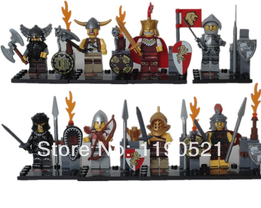 Latest version Castle Knights Figure Building Block Sets Toy Soldier Minifigure toys Weapons kids DIY Bricks Toys  -  Only You Store store