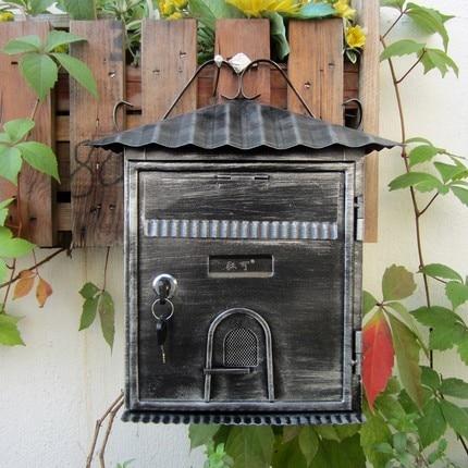 European-style villa mailbox outdoor retro bills box storage box suggestion box mail box ...