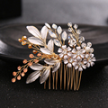 Silver leaf bridal crystal Hair Clips wedding party headpiece bride hair comb for women hair accessories