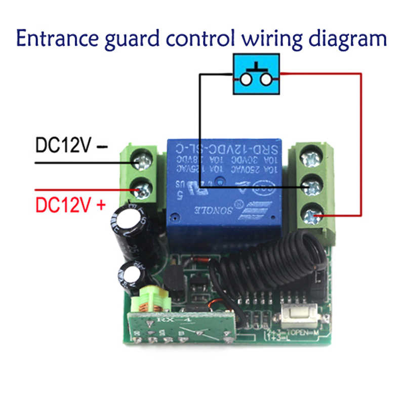 newest dc 12 v 1ch mini size relay wireless remote control switch learning code 3 piece receiver 1 piece transmitter 315mhz hidden ignition kill switch 12v 48v 2ch 24v wireless remote relay