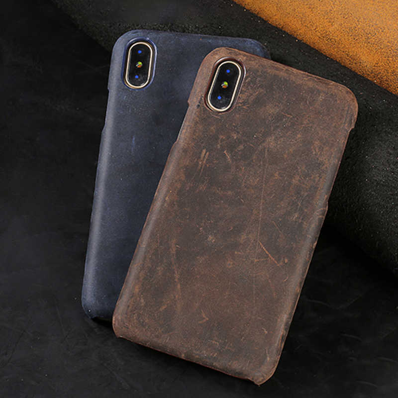 LANGSIDI Genuine Leather Case For Xiaomi Pocophone F1 Mi 9 8 6 8SE 8Lite A2 A1 Phone  Cases For Redmi Note 7 5 Pro Plus 4X cover