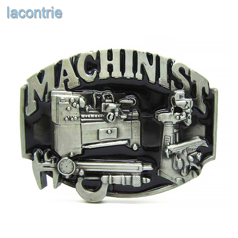 2017 Sale Lacontrie Fashion Western Design Brass Cool Men Machinist Belt Buckle For Tools Suitable For 4cm Width Free Shipping