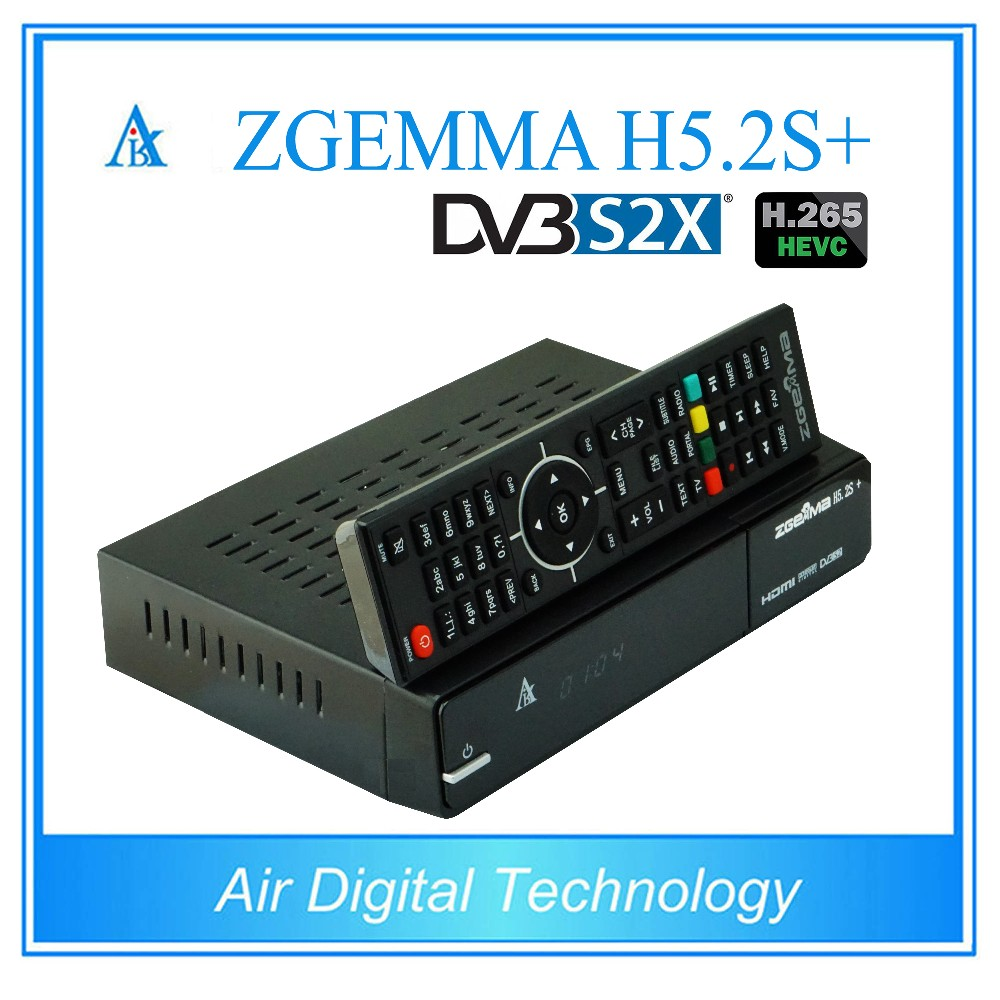 5pcs/lot 2017 New Best Offered ZGEMMA H5.2S Plus Multistream Satellite/Cable Box H.265 DVB-S2+DVB-S2X/T2/C Triple Tuners i box rs232 dvb s satellite smart sharing nagra 3 dongle black