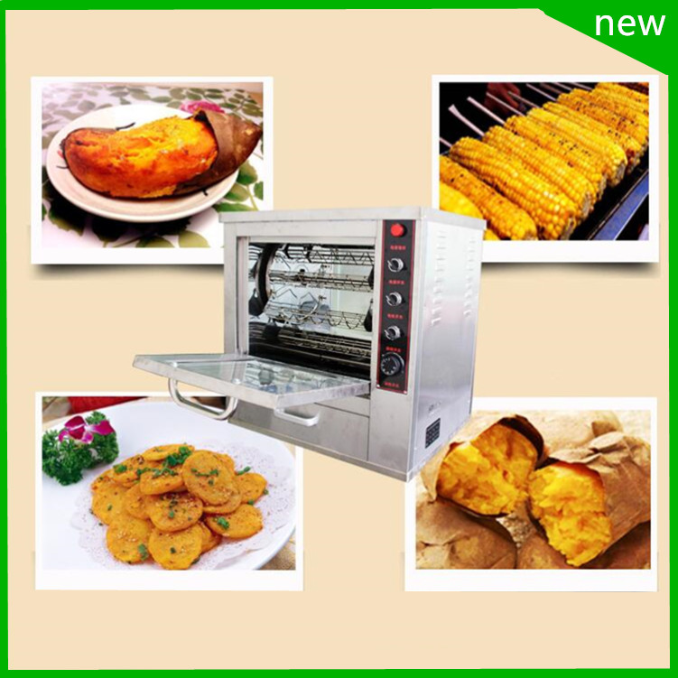 18 commercial Rotary oven Roast  sweet potatoes, taro, corn machine, chicken wings toaster machine, Electric Sweet Potato three groups of kebab ovens commercial electric oven machine