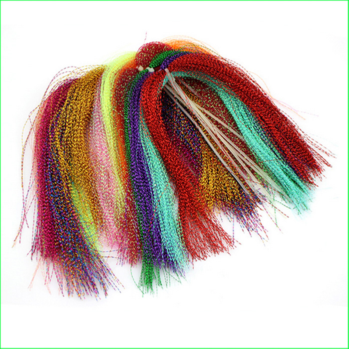 FT01 10 Colors 15 bags/set Fly Tying Fly Fishing Feather Line Tinsel Chenille Crystal Flash Line DIY Flies Flying Bait Lures