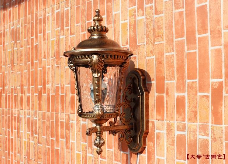Lampada da parete per esterni con interruttore villa applique da