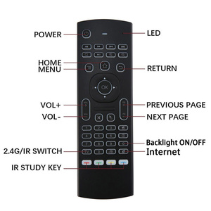 Image 4 - MX3 voice Backlit Air Mouse T3 Google Smart Remote Control IR 2.4G RF Wireless Keyboard For X96 mini H96 MAX X2 PRO Android TV