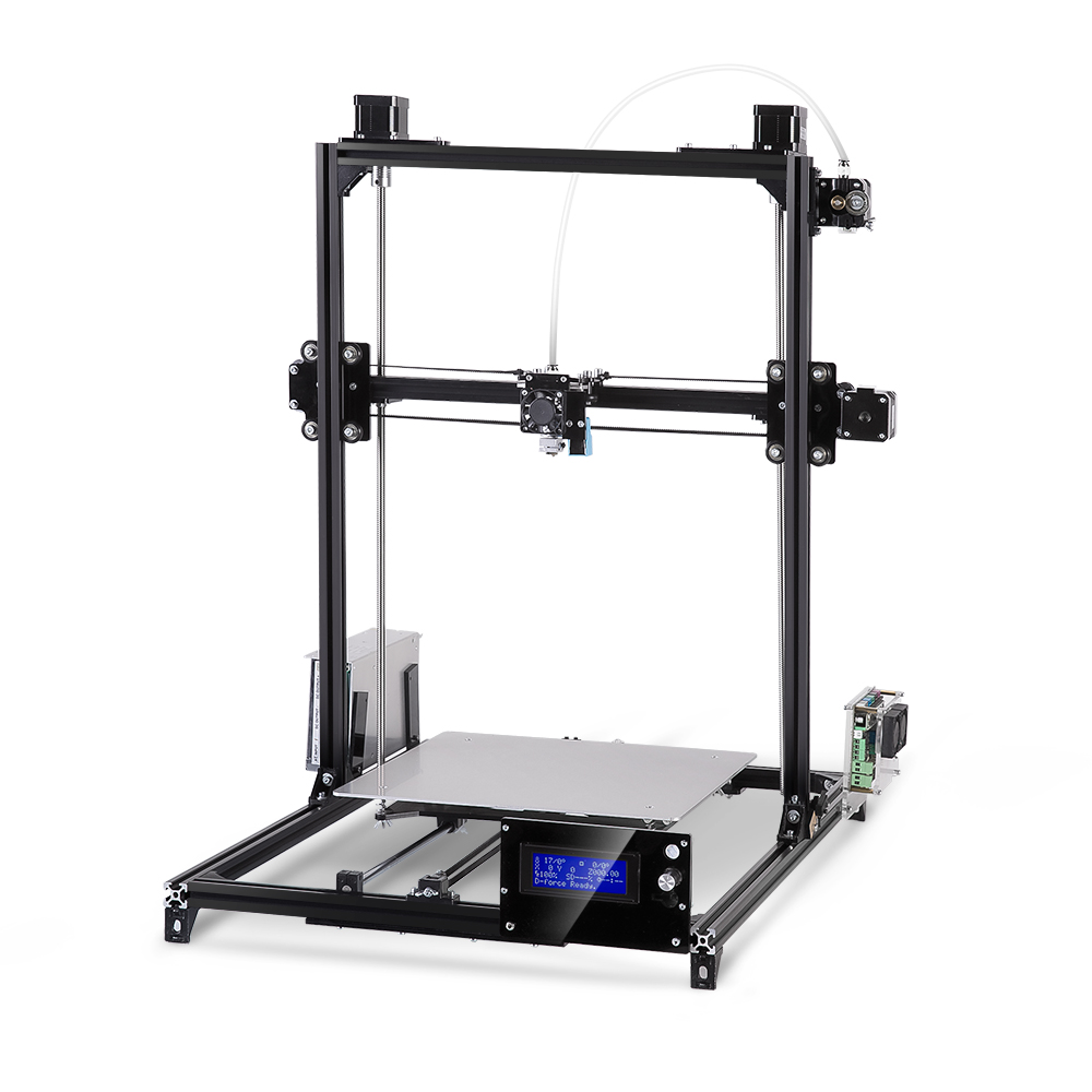 Large Printing Area 300 300 420mm Flsun 3D Printer Kit Auto Leveling DIY 3D Printer Metal Stracture Heated Bed One Roll Filament in 3D Printers from Computer Office
