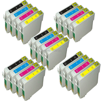 20 COMPATIBLE INK CARTRIDGE FOR EPSON STYLUS SX200 SX205 SX210 SX215 SX218 SX400 SX405 SX410 SX510 SX515W PRINTER - 5SETS lowest price in aliexpress 11 colors pigment ink cartridge compatible for epson 4900 stylus pro4900